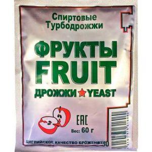 Дрожжи спиртовые Fruit Turbo 60 гр