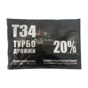 Дрожжи спиртовые Turbo T-34, 155 гр