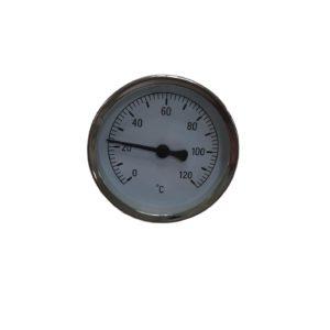Термометр биметаллический, осевой, (0-120°С)