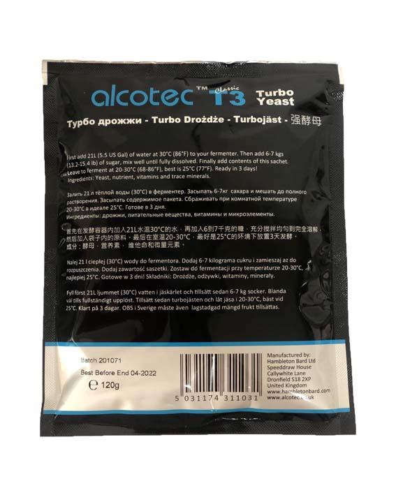 Дрожжи Alcotec T3 Turbo Yeast 120 гр